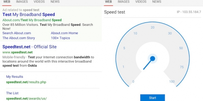 Microsoft Experiments With Showing Network Speed Test ...