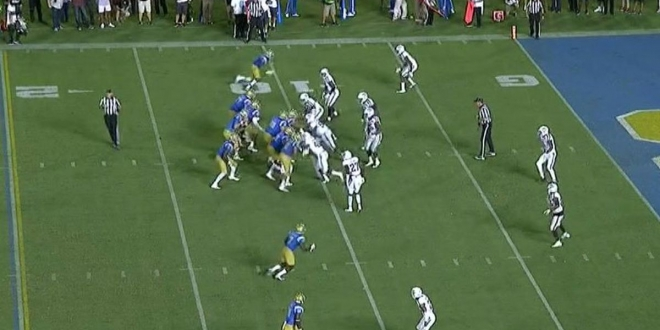 Georgia Tech's working Tennessee, and this cut to set up a touchdown is just vicious