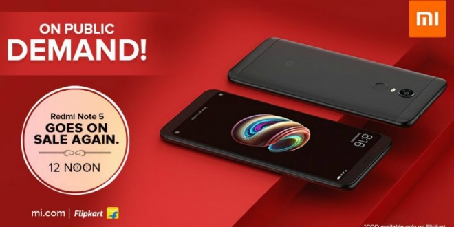 Redmi Note 5 Up for Grabs Today as Xiaomi Announces Surprise Flash Sale