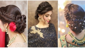 Tranding Indian Hairstyle for Saree