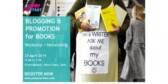 Workshop on blogging and promotion for books on 27 April